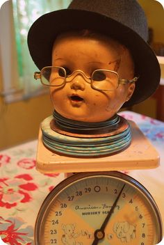 Baby doll head with top hat!
