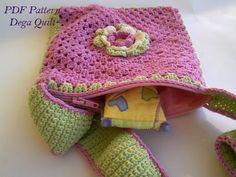 Crochet pattern - Flower bag for little girls Pattern Flower, Flower Patterns, Bag Patterns, Crochet Patterns, Flower Bag, Little Girls, Crochet Hats, Purses, Bags
