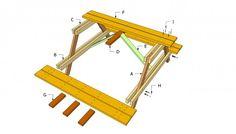 Picknicktafel bouwtekening stap1