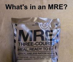 Many preppers have MREs sitting around but how many have actually eaten one? What's all in that tan pouch? Best Survival Food, Survival Prepping, Wilderness Survival, Survivalist Gear, Backpacking Hammock, Camping, Survival Clothing, Prepper Food, Hiking Food