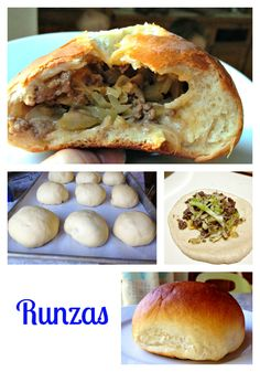 Recipe for Runzas -- like delicious Hot Pockets filled with savory filling and a sweet dough. My husband's favorite!