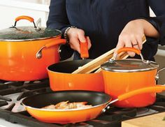 Colorful cookware make your kitchen pop