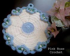 \ PINK ROSE CROCHET /: Pega Panelas com Ponto Flor - Crochet Pot Holders