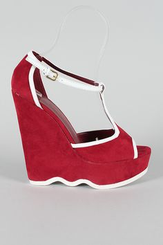 red wavy wedge