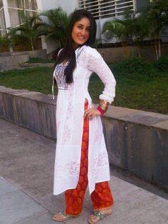 kareena wear-a-white-kameez-with-orange-shalwar