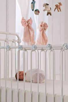 Swoon worthy baby nursery!  That beautiful little nugget is sound asleep in the most gorgeous baby crib ever!  #brattdecor #baby #nursery #infant #room #crib