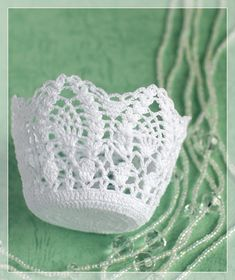 Crochet Ornament Patterns, Crochet Angel Pattern, Crochet Flower Patterns, Crochet Diagram, Crochet Flowers, Free Crochet, Tunisian Crochet, Crochet Bowl, Easter Crochet