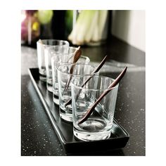 GODIS Glass, clear glass  $3.99	 / 6 pack Article Number: 800.921.09 The glass has a simple low and straight shape which makes it perfect for all types of cold drinks, such as cocktails without ice. Size 8 oz