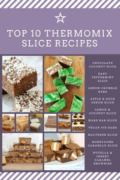 The Very Best Thermomix Slices (the ultimate collection) - Bake Play Smile Apple Sour Cream Slice, Chocolate Slice, Chocolate Desserts, Bellini Recipe, Lunch Box Recipes, Recipes Dinner, Dessert Recipes, Delicious Desserts, Yummy Food
