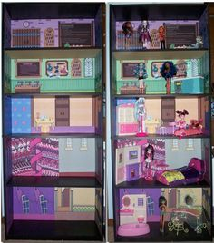 Monster High Dead Tired Bedroom Bookcase Kit Powder Room Doll House Bed | eBay