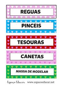 ETIQUETAS LINDAS PARA ORGANIZAR MATERIAL ESCOLAR EM SALA DE AULA - IMPRIMIR - ESPAÇO EDUCAR Class Management, Classroom Organization, Periodic Table, Crafts For Kids, Teacher, Education, Blog, Class Activities, Toddler Activity Board
