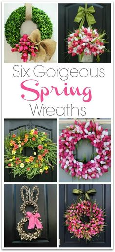 Six spring wreaths you can buy that would make gorgeous front door decorations! … Six spring wreaths you can buy that would make gorgeous front door decorations! Links to shops selling them included in post! Spring Door Wreaths, Easter Wreaths, Summer Wreath, Spring Home Decor, Spring Crafts, Spring Decorations, Wreath Crafts, Diy Wreath, Wreath Ideas