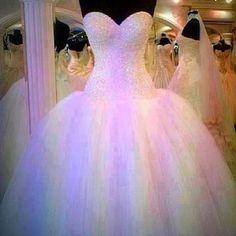 Poofy prom dress.