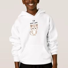 I do what I want Hoodie - animal gift ideas animals and pets diy customize