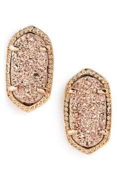 These gorgeous rose gold Kendra Scott earrings will make a dazzling gift. @nordstrom