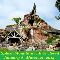 Closures for rides/attractions in Disney World.