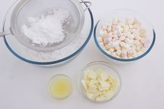 Ingredients for easy fondant recipe