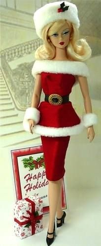From the Face Book friends Believe in the Magic of Christmas!  Love this Barbie look!