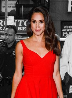 Here's What We Can All Learn From Meghan Markle's Style #refinery29  http://www.refinery29.com/2017/01/137782/meghan-markle-style-best-outfit-photos#slide-3  Sitting comfortably in the Markle Pose, the actress flashes just the right amount of skin with the help of a high-waisted pencil skirt....
