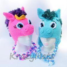 Items similar to Crochet Circus Pony Hat.Made to order on Etsy Crochet Unicorn Hat, Crochet Pony, Crochet Animal Hats, Childrens Crochet Hats, Crochet Kids Hats, Crochet Blanket Patterns, Crochet Character Hats, Novelty Hats, Foto Baby
