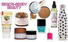 Beauty essentials for the beach or pool