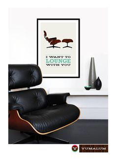 Eames Poster Print - I Want To Lounge With You 2 - Large 50 X 70 Cm Mid Century…