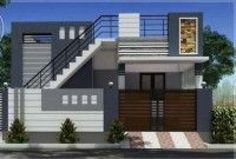 Home exterior simple small houses Ideas for 2019 House Front Wall Design, House Outside Design, Village House Design, Bungalow House Design, Small House Design, Duplex Design, House Design Drawing, Residential Building Design, Pintura Exterior