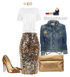 Untitled #232 by sherristylz on Polyvore featuring polyvore мода style Boohoo rag & bone/JEAN River Island Christian Louboutin Jigsaw Chanel Estée Lauder fashion clothing