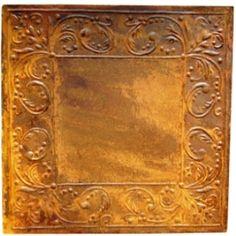 Ceiling Tile Rusty Tin Scrolls