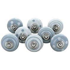 pomelli in ceramica per credenze con grigi e bianchi confezione da 6 knoa
