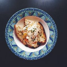 #Breakfast: orange yolk eggs on toasted miche with fresh picked thyme #EBdailypic