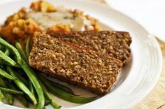 """""""No-Fu Love Loaf"""": This hearty vegan dinner loaf is made withOUT any tofu, tvp, or vegan meat products.  What is it made with?... check it out:"""