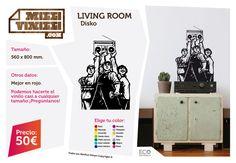 Milli Vinilli es una nueva idea para el diseño y la personalización de espacios. Con facilidad y en pocos minutos puedes decorar la pared de tu casa. Si el resultado en pared puede ser espectacular Milli Vinilli sorprende en superficies hasta hace poco inimaginables como: suelo, cristal, espejo, muebles, portátiles, etc. Seguro que a ti se te ocurren muchas más. #disko #disco #Vinilos #Vinyls #Decoración #Decoration #Design #Homedesign #Wallpaper #Stickers #Illustration #Deco #millivinilli