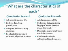 Qualitative Methodology  Quantitative Vs Qualitative Research