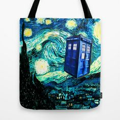 Van Gogh's Starry Night {Collage by Bohemian Bear} Tote Bag by Bohemian Bear by Kristi Duggins - $22.00