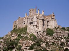 Castle Dating from the 14th Century, St. Michael's Mount, Cornwall, England, United Kingdom