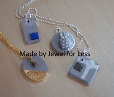 Cement Jewelry, Washer Necklace, Pendant Necklace, Cement Crafts, Concrete Art, Geometric Jewelry, Unique Necklaces, Picture Frames, Jewelry Making