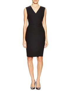 Megan V-Neck Sheath Dress