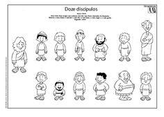 Tallita y las clases de religión: Los apóstoles para colorear...