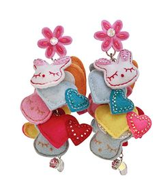 Take a look at this Pink Top Prize Swarovski Crystal Bunny Heart Clip-On Earrings by Tarina Tarantino on #zulily today!