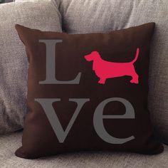 Love Basset Hound Pillow - Righteous Hound