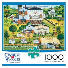 Charles Wysocki: Sunny Side Up 1000-pc. Puzzle, Multicolor