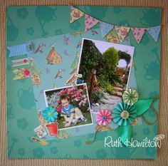 A Passion For Cards: Forget Me Not scrapbook page