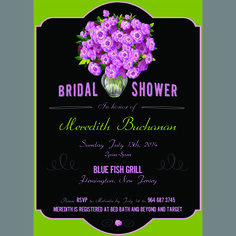 Bridal shower invitation by Pattycakes Papers.  www.pattycakespapers.etsy.com