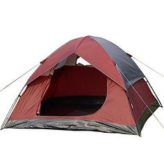 Super buy Waterproof C& Quick Tent Person/Man 1 Room Outdoor C&ing Hiking Wine * Check out this great image  C&ing Tents  sc 1 st  Pinterest & iCorer Extra Large Pop Up Instant Portable Outdoors 2-3 Person ...