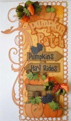 Vertical Border...Pumpkin Patch...
