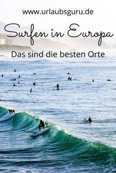 Es muss nicht immer Australien oder Kalifornien sein. Viele der coolsten Surfing-Spots findet ihr bei uns in Europa, wie den weltberühmten Strand von Biarritz, den ihr auf dem Bild seht.