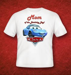 Cars birthday shirt Mom Tshirt Iron on custom by GreyhoundGraphics, $2.99 Boys 1st Birthday Party Ideas, Cars Birthday Parties, 1st Boy Birthday, Birthday Shirts, Mc Queen Cars, Lightening Mcqueen, Fiesta Outfit, Queen Birthday, Little Boy Outfits