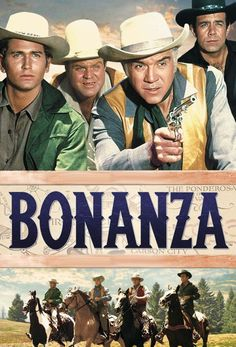 Bonanza TV Series (1959–1973) Created by David Dortort, Fred Hamilton, starring  Lorne Greene, Michael Landon, Dan Blocker, Pernell Roberts.. The adventures of Ben Cartwright and his three sons as they run and defend their one-thousand square mile Ponderosa Ranch near Virginia City, Nevada during and after the Civil War.