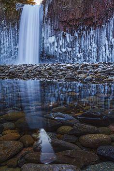 Frozen Abiqua Falls, Marion County, Oregon